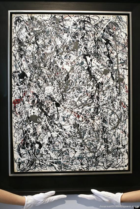 Jackson Pollock painting, $58.36 million, Christie's