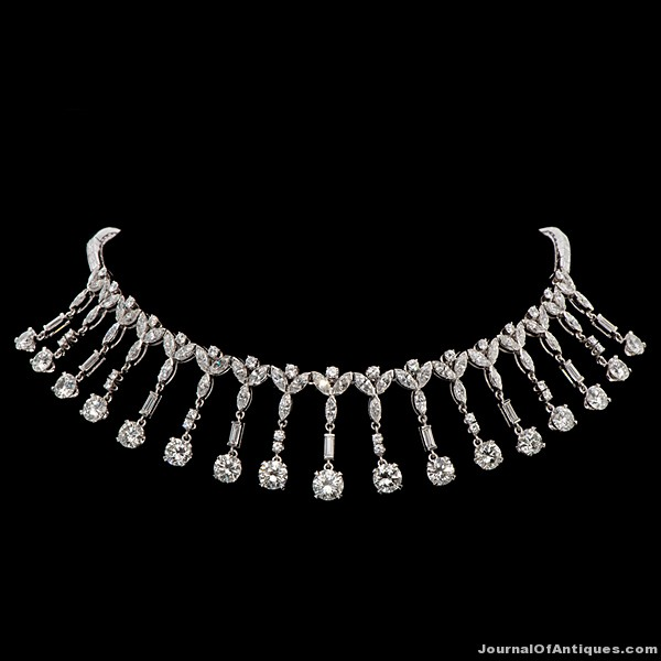 Marge Schott's necklace, $192,000, Cowan's Auctions