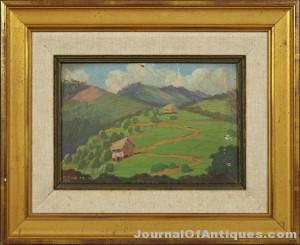 Miguel Pou painting, $8,619, Crescent City