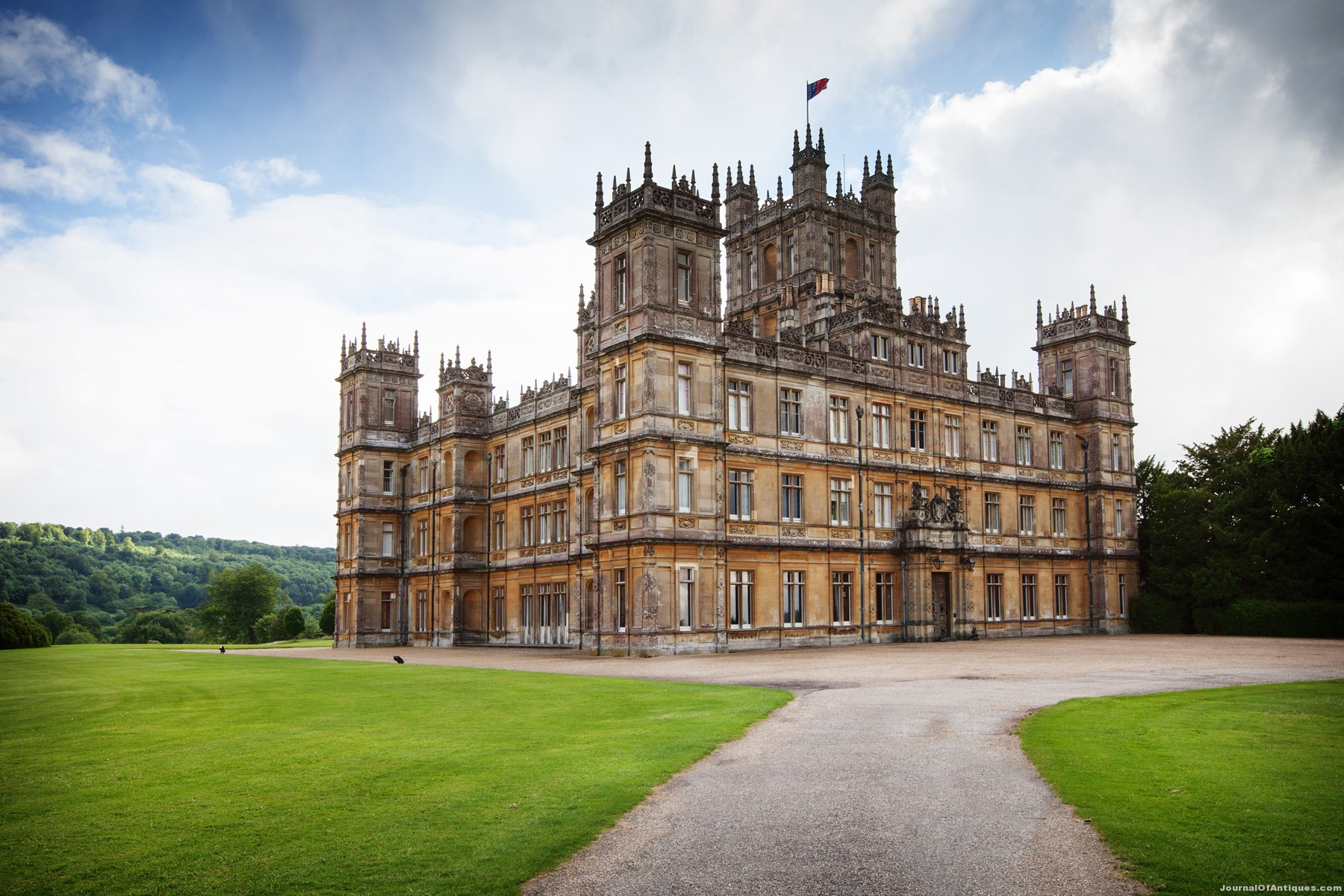 The Antiques of Downton Abbey's Magnificent Highclere Castle