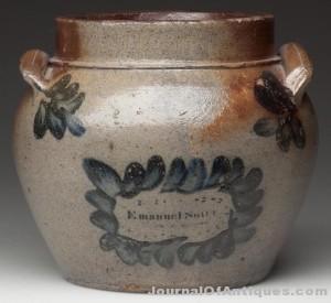 E. Suter stoneware pot, $86,250, Jeffrey S. Evans
