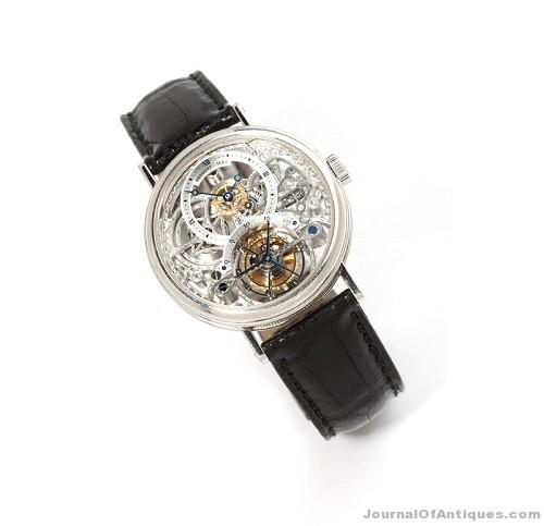 Breguet tourbillon wristwatch, $57,000, John Moran Auctioneers