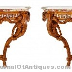 Pair of Neo-classical tables, $18,750; Leslie Hindman