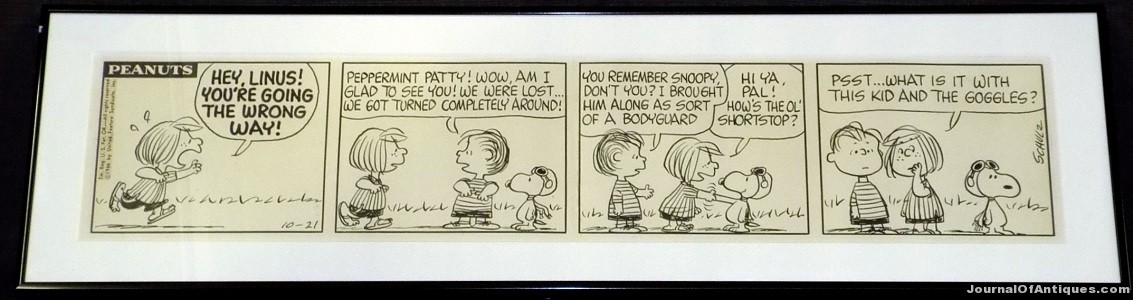 Peanuts daily strip, $26,450, Philip Weiss
