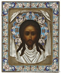 Russian icon of Jesus, $19,520, Crescent City