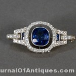 Sapphire and diamond brooch, $108,000, Nadeau's Auction
