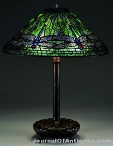 Tiffany Studios table lamp, $118,500, James D. Julia