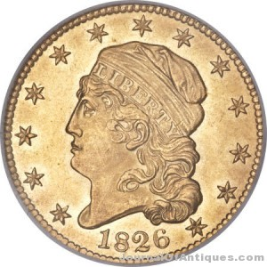 Gavels 'n' Paddles: 1826 half eagle gold coin, $235,000, ANA (Heritage)