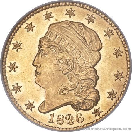 Gavels 'n' Paddles: 1826 half eagle gold coin, $235,000, ANA (Heritage)