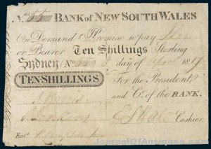 Gavels 'n' Paddles: Australia's first banknote, $310,000, Noble Numismatics