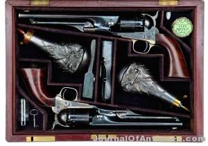 Gavels 'n' Paddles: Double cased Colt pistols, $224,250, James D. Julia