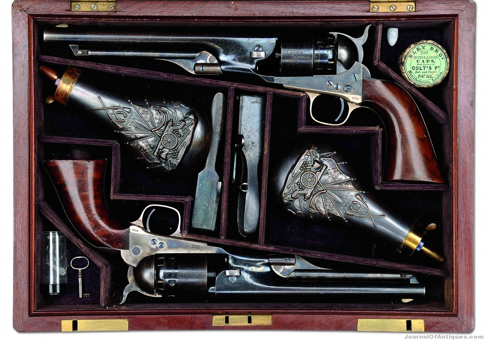 Gavels 'n' Paddles: Double cased Colt pistols, $224,250, James D. Julia