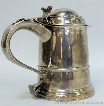 Gavels 'n' Paddles: English silver tankard, $5,900, Richard Winterton