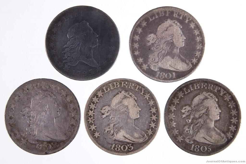 Gavels 'n' Paddles: Five half-dollar coins, $4,313, Jeffrey S. Evans