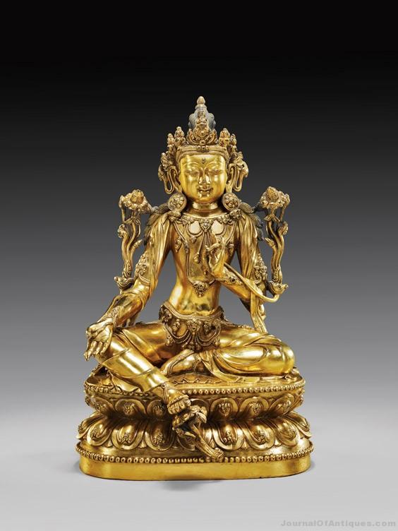 Gavels 'n' Paddles: Gilt-bronze Bodhisattva, $350,000, I. M. Chait