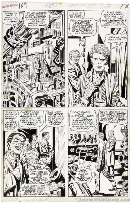 Gavels 'n' Paddles: Jack Kirby art, $43,320, Hake's