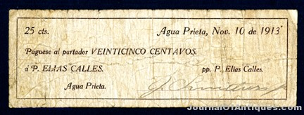 Gavels 'n' Paddles: Mexican scrip note from 1913, $4,130, Archives International