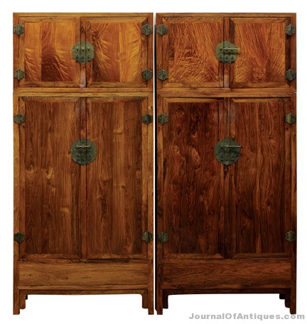 Gavels 'n' Paddles: Pair of Chinese cabinets, $299,500, Clars Auction