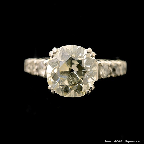 Gavels 'n' Paddles: Platinum and diamond ring, $14,160, Michaan's Auctions