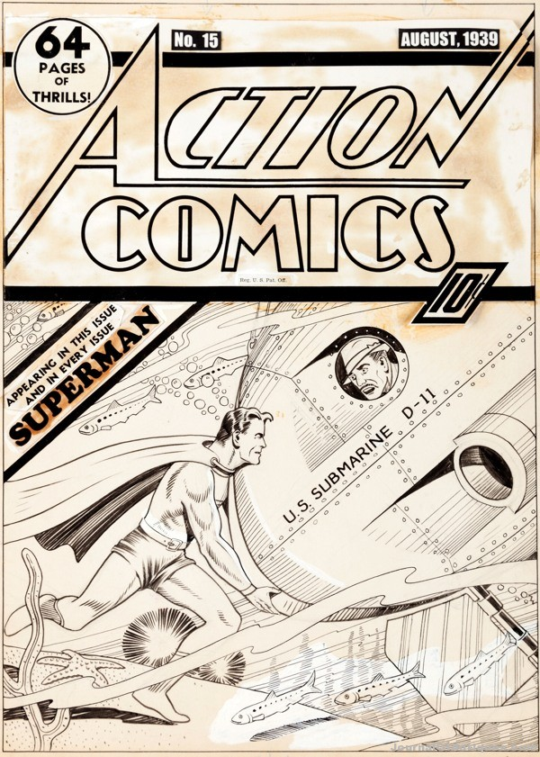 Gavels 'n' Paddles: Superman cover art, $286,800, Heritage