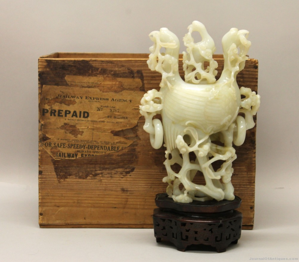 Gavels 'n' Paddles: White jade incense burner, $48,000, Sanford Alderfer