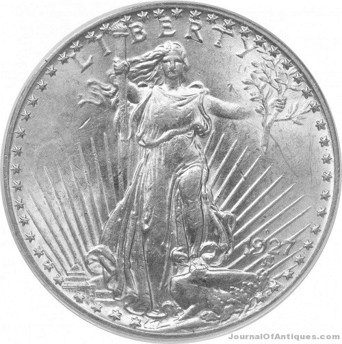 Gavels 'n' Paddles: 1927-D double eagle coin, $1.292 million, Heritage