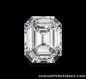 Gavels 'n' Paddles: 6-ct. emerald cut diamond, $464,500, Leslie Hindman