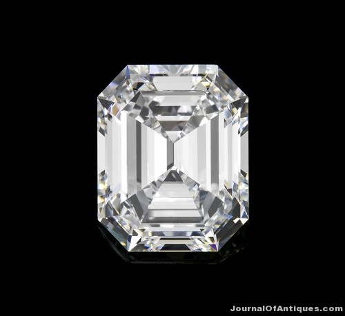 Gavels 'n' Paddles: 6-ct. emerald cut diamond, $464,500, Leslie Hindman