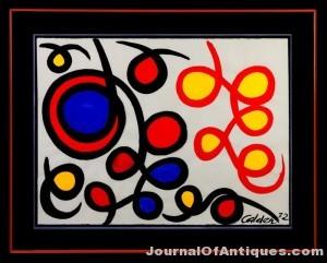Gavels 'n' Paddles: Alexander Calder gouache, $78,200, Cottone Auctions