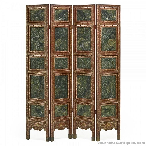 Gavels 'n' Paddles: Chinese four-panel screen, $68,750, Rago Arts & Auction