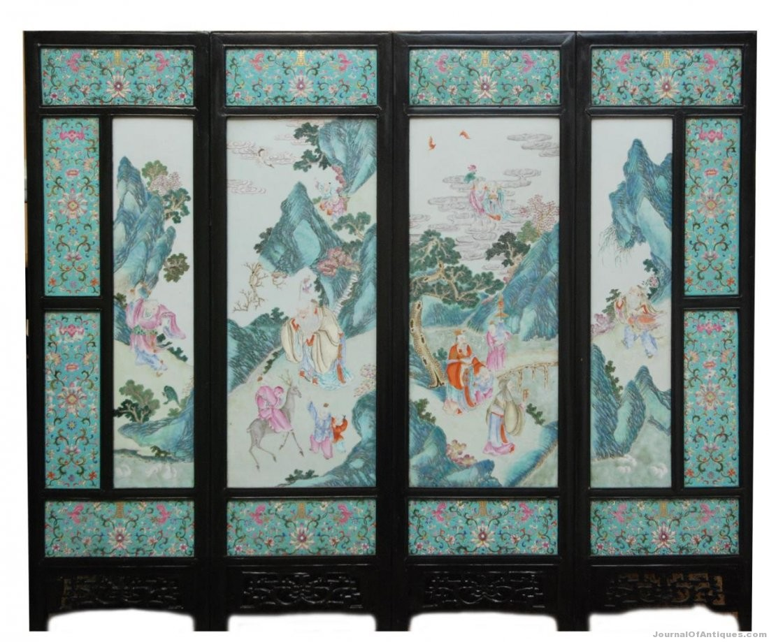 Gavels 'n' Paddles: Chinese porcelain screen, $121,000, Elite Decorative Arts