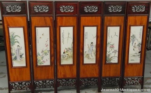 Gavels 'n' Paddles: Six porcelain panels, $57,600, Nadeau's