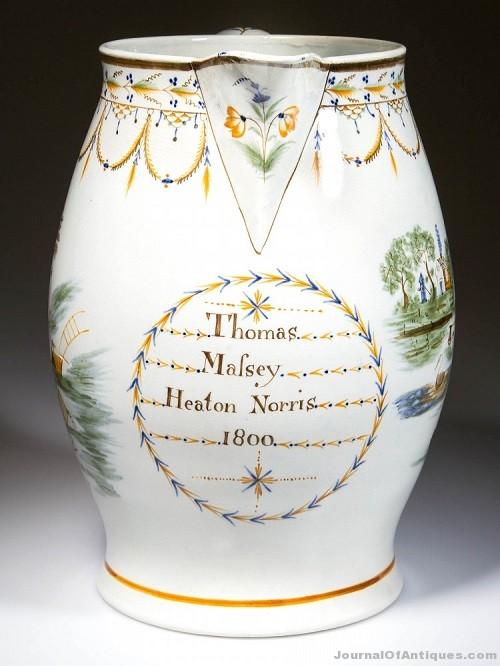 Gavels 'n' Paddles: English Staffordshire jug, $4,888, Jeffrey S. Evans