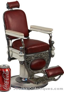 Gavels 'n' Paddles: Scale model barber's chair, $42,000, Victorian Casino
