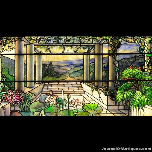 Gavels 'n' Paddles: Tiffany stained glass window, $236,000, Michaan's Auctions
