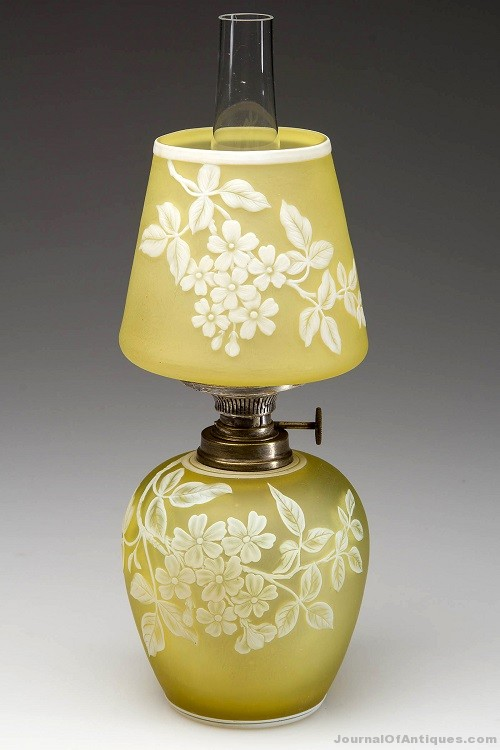 Gavels 'n' Paddles: Art glass miniature lamp, $11,500, Jeffrey S. Evans