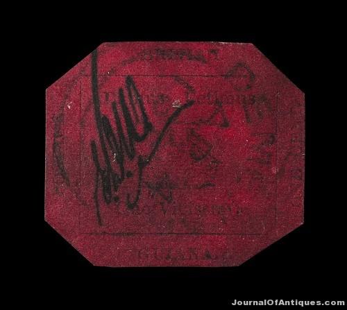 Gavels 'n' Paddles: British Guiana stamp, $9.48 million, Sotheby's