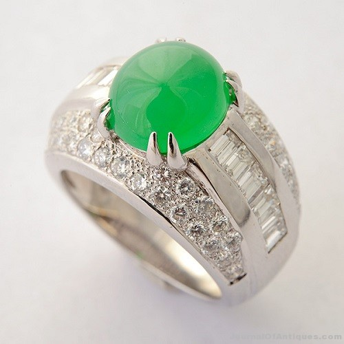 Gavels 'n' Paddles: Certified jade ring, $11,800, Michaan's
