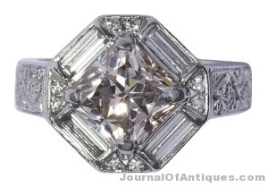 Gavels 'n' Paddles: Diamond and platinum ring, $143,000, Clars Auction Gallery