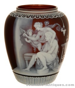 Gavels 'n' Paddles: English cameo art glass vase, $260,000, Woody Auction