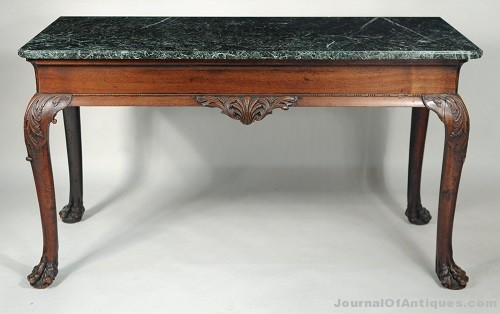 Gavels 'n' Paddles: Marble-top serving table, $41,480, Schwenke's Woodbury