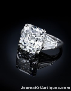 Gavels 'n' Paddles: Ruser diamond ring, $461,000, Bonhams