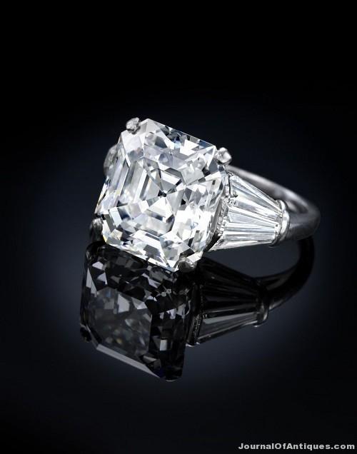 Gavels 'n' Paddles: Ruser diamond ring, $461,000, Bonhams