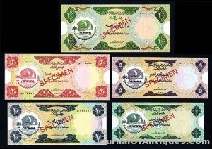 Gavels 'n' Paddles: Set of five UAE banknotes, $16,520, Archives International