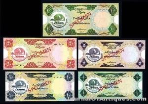 Gavels 'n' Paddles: Set of five UAE banknotes, $16,520, Archives International