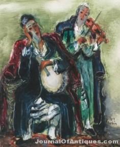Gavels 'n' Paddles: Reuven Rubin painting, $61,200, Stefek's Auctioneers