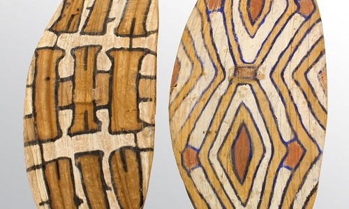 Gavels 'n' Paddles: Two Aboriginal shields, $24,000, Clars Auction