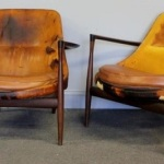 Gavels 'n' Paddles: Two Kofod-Larsen chairs, $39,360, Clarke Auction