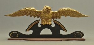 Gavels 'n' Paddles - 19th century carved eagle, $1,989, Copake Auction