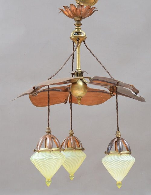 Gavels 'n' Paddles - Arts and Crafts chandelier, $26,910, Stair Auctioneers